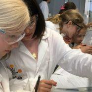 Ein Tag im Labor: zwei Klassen experimentieren
